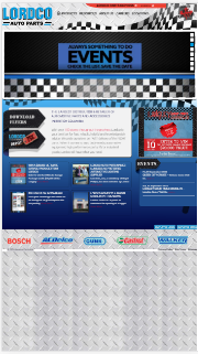 non responsive website lordco auto parts